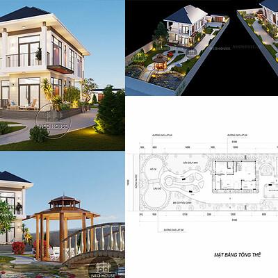 Neohouse architecture biet thu 2 tang mai thai dep bia