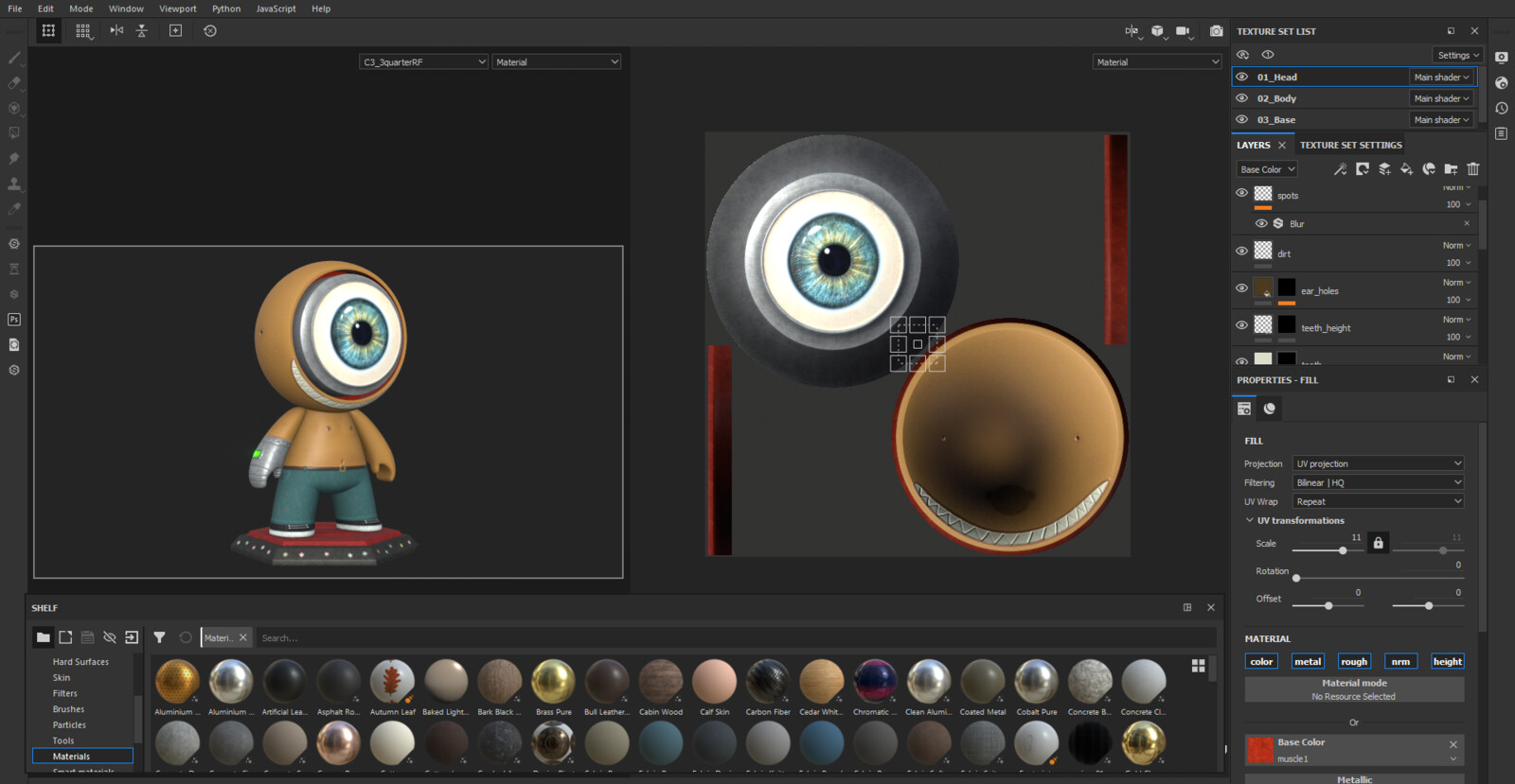 Texturing within Substance Painter