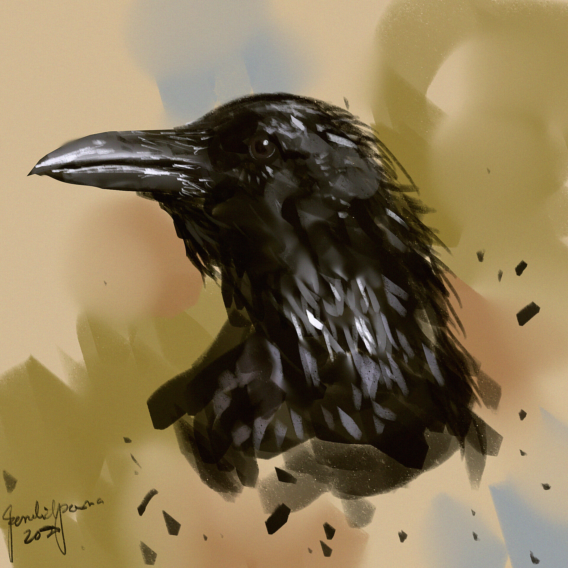 Speedpaint Crow