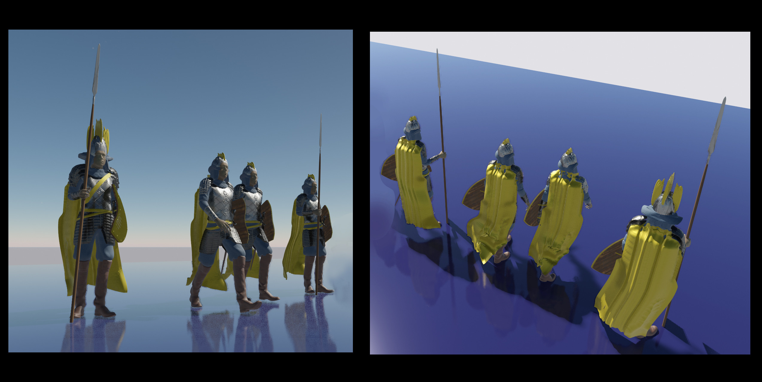 Some Soldier Characters I modeled for this set.