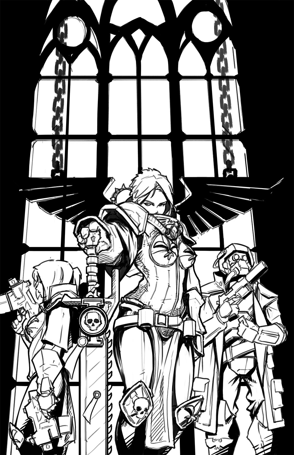 Sororitas fan comic cover