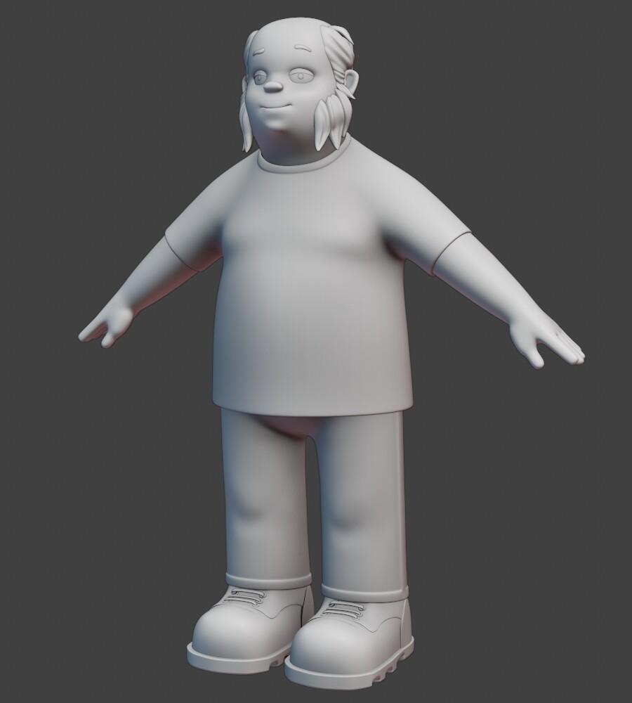 Ed from Man Band, WIP (T pose)
