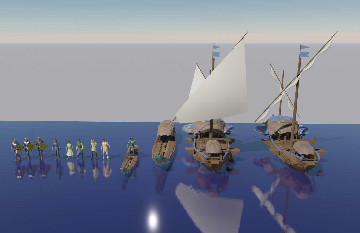 "I also designed some ships as I was originally going to do an ""At the docks"" shot. Maybe coming soon!"