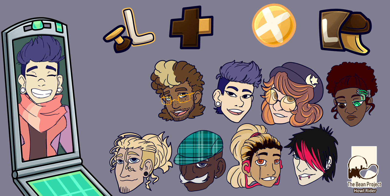 Tutorial and character icons