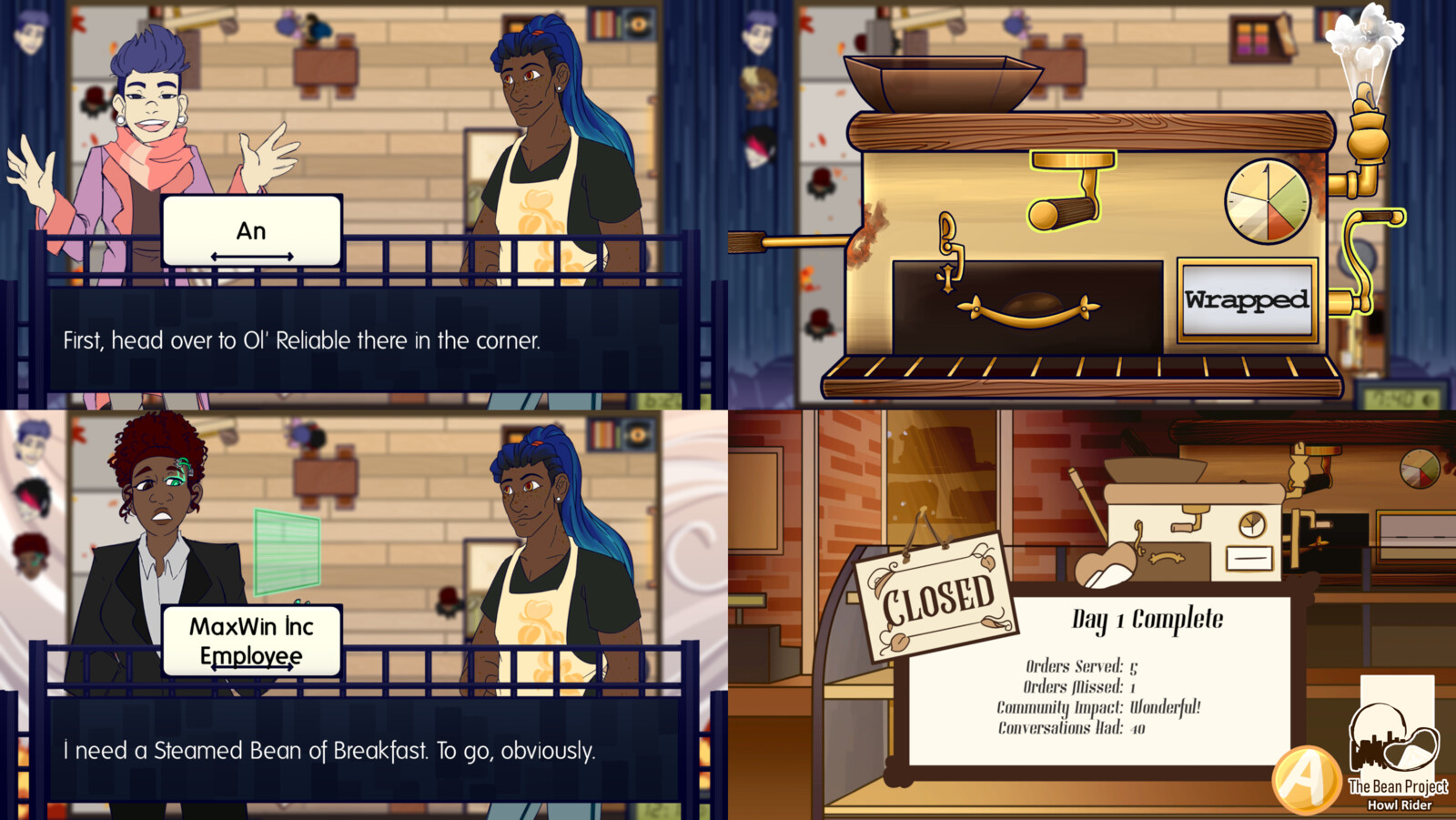 Examples of the the gameplay