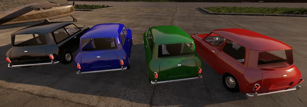 Showing color options on the vehicle. This is when PBR first came out on Cryengine.