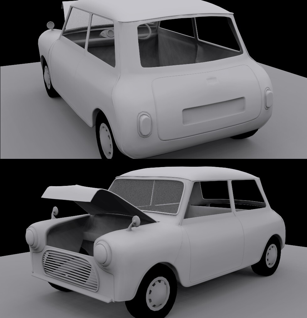 Progress before the engine was modeled.