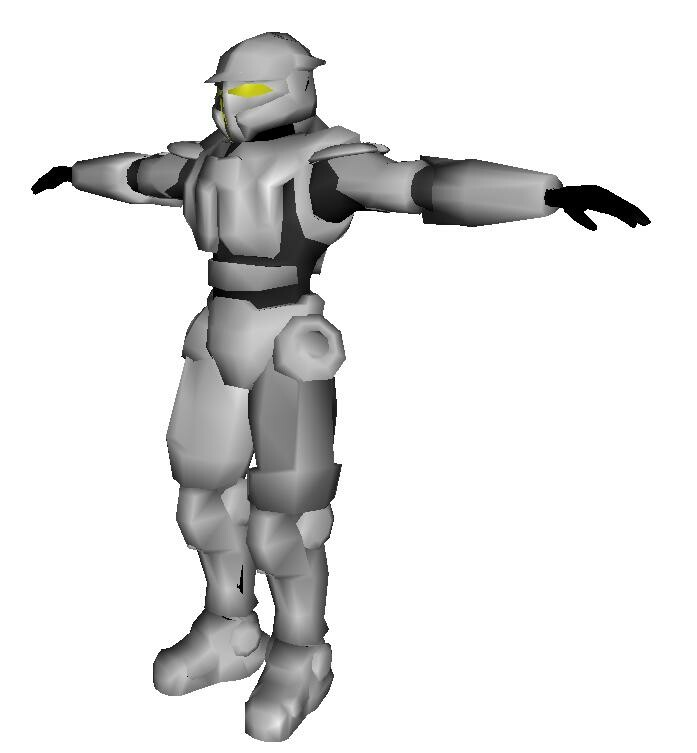Ninja Armored - 2007 armor wip for a Halo like armor in Torque 3d.