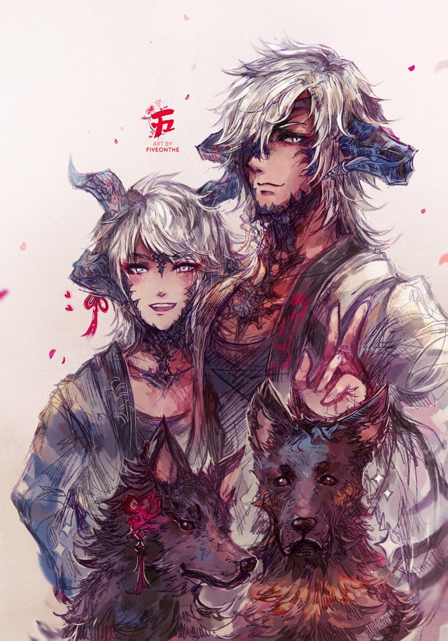 Rin and Hayate. 🌸