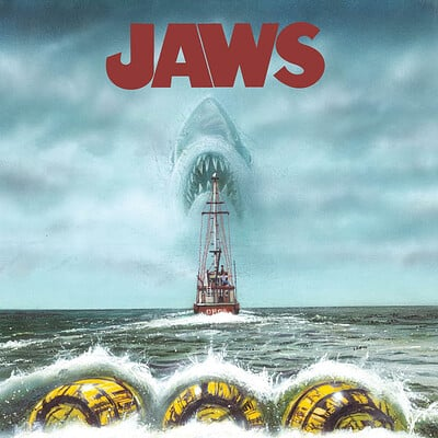 Paul butcher jaws shark poster etsy