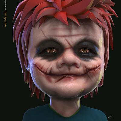 Surajit sen baby joker doll cg character surajit sen june2020a