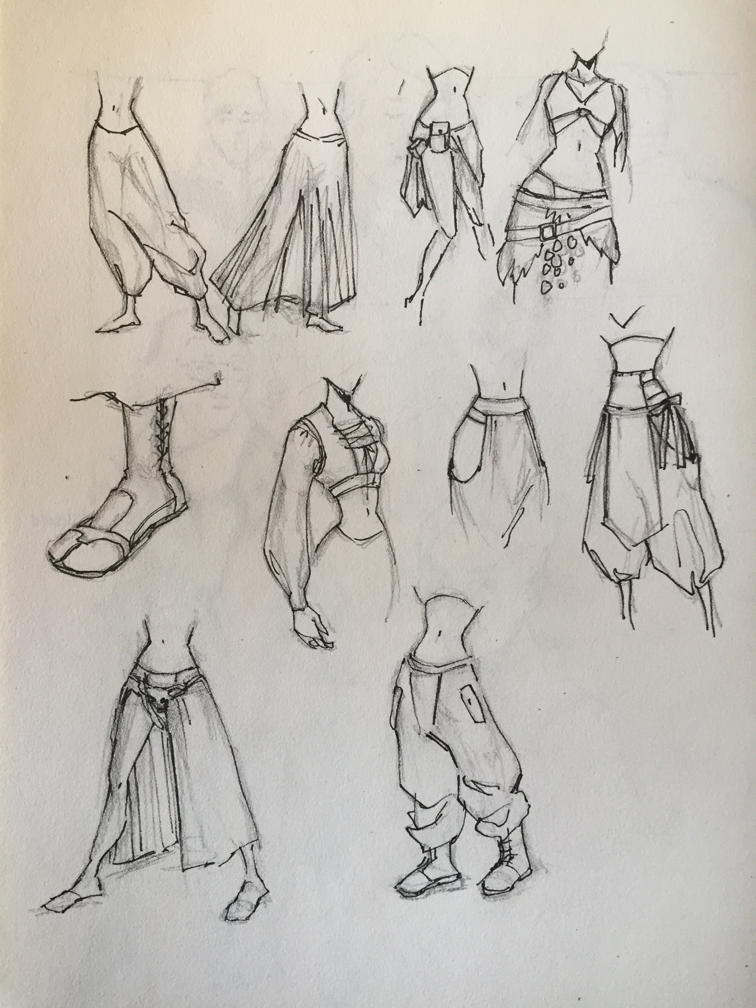 Sketches for Isa's outfit