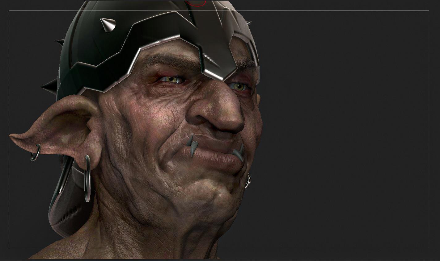 Wip - Warrior Goblin - 3d character design