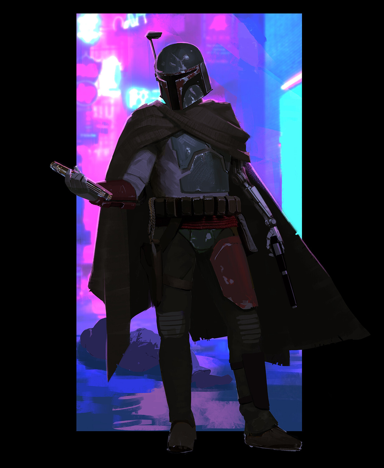 Part 3 - After going through the Coruscant underworld leaving a trail of bodies, Boba takes possession of Mace Windu's lightsaber.