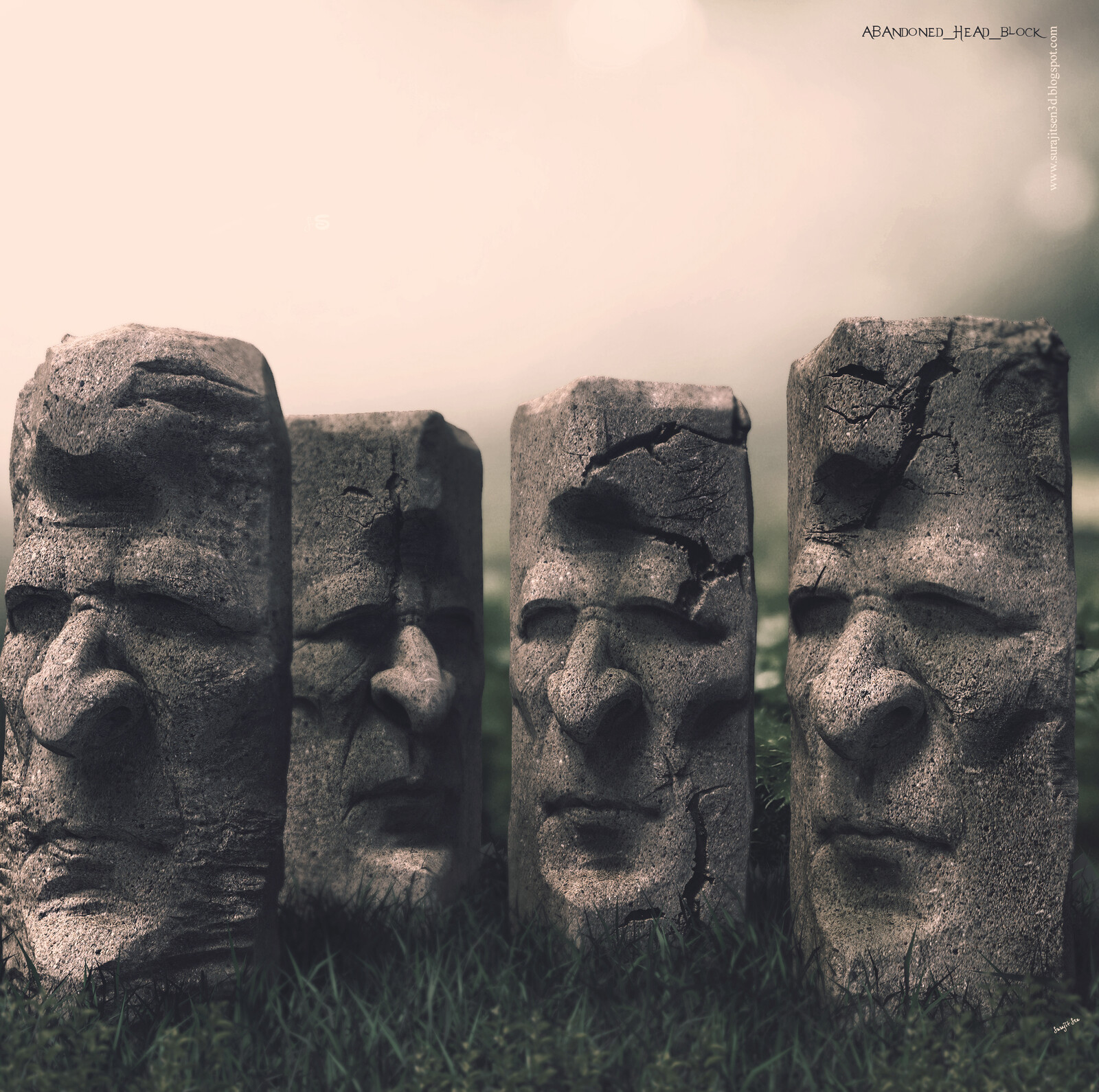 Abandoned_Head_Blocks Digital Sculpture Quick Sculpting Background music- #hanszimmermusic