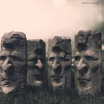Surajit sen abandoned hex blocks digital sculpture surajitsen june2020a