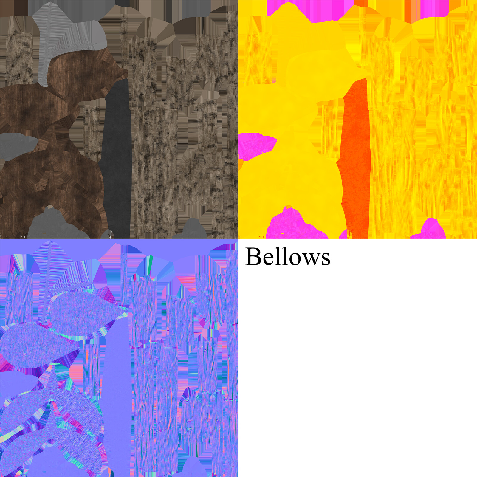 Albedo, MRAO, Normal maps