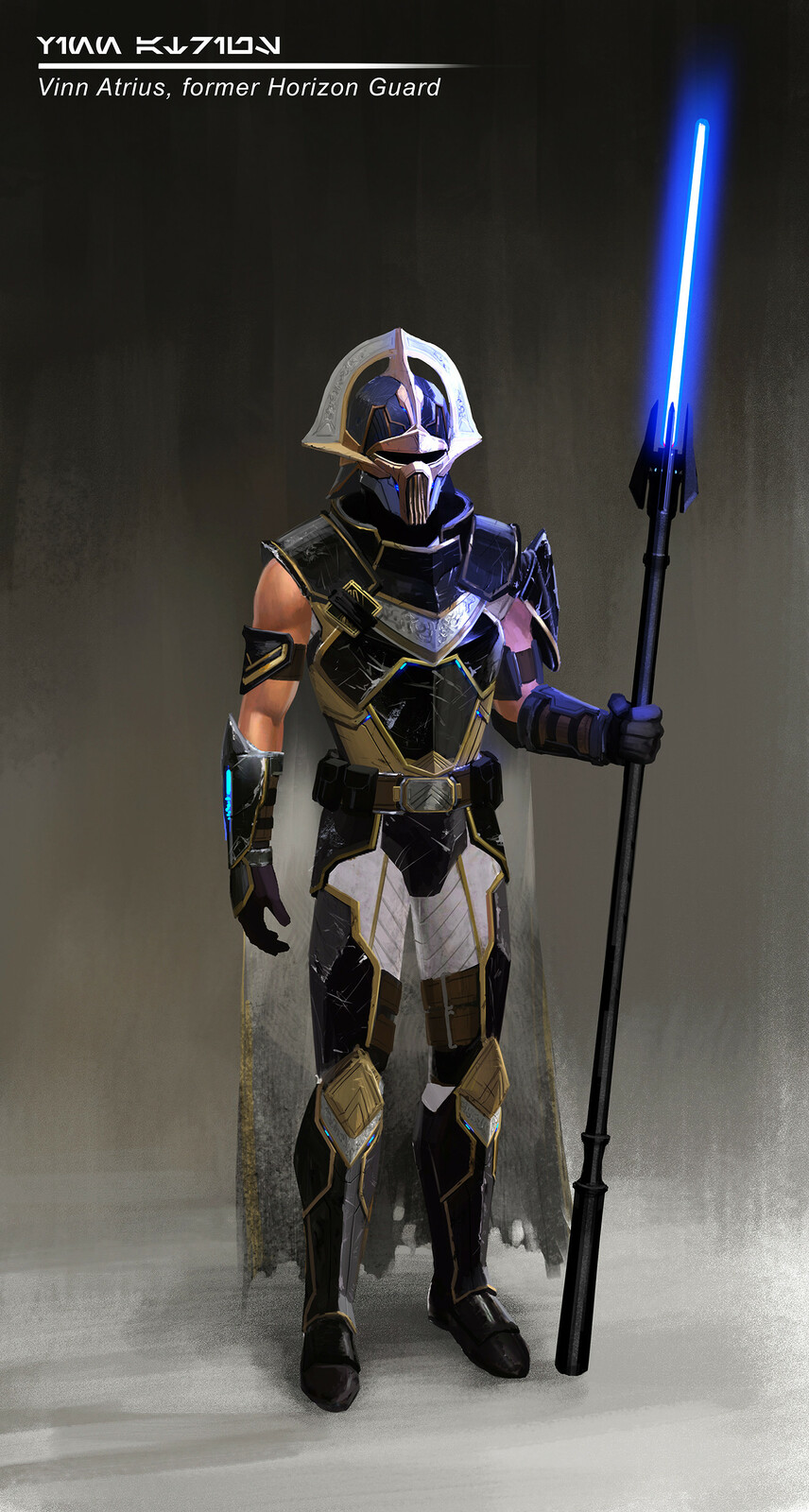 Concept for Vinn Atrius, a former Horizon Guard that grouped with a Gemini Droid to take down the Eternal Alliance.