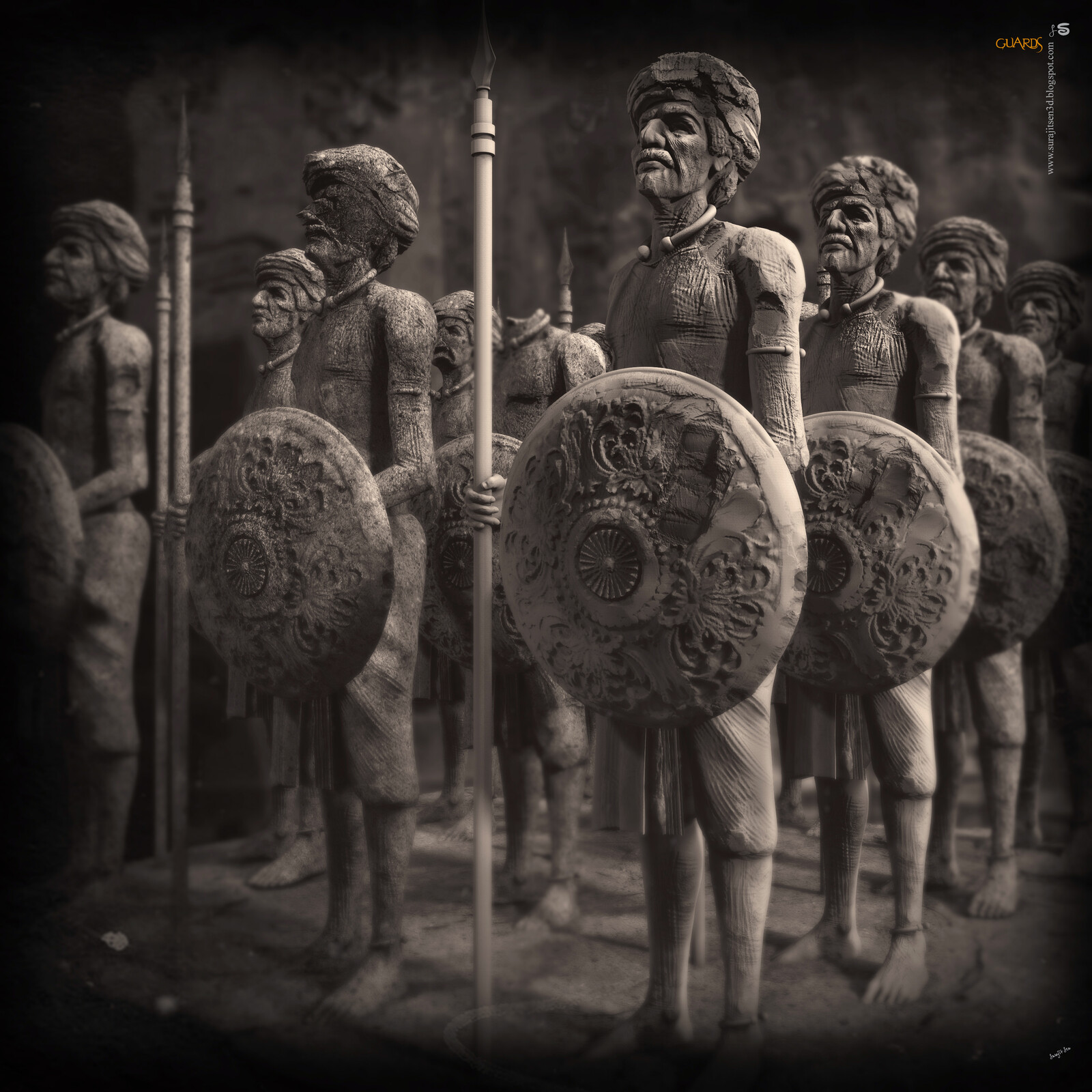 Guards My weekend study works. One of my old concepts… Digital Sculpture. Wish to share. Background music- #hanszimmermusic