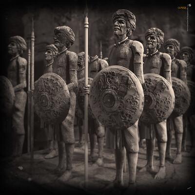 Surajit sen guards digital sculpture surajitsen june2020a