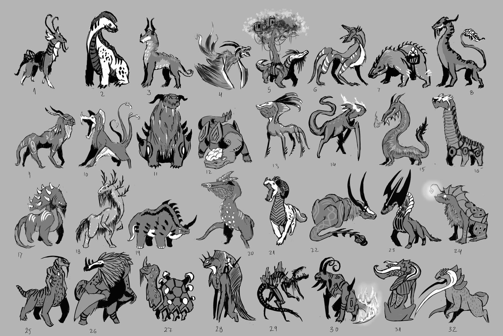 Creature Thumbnails