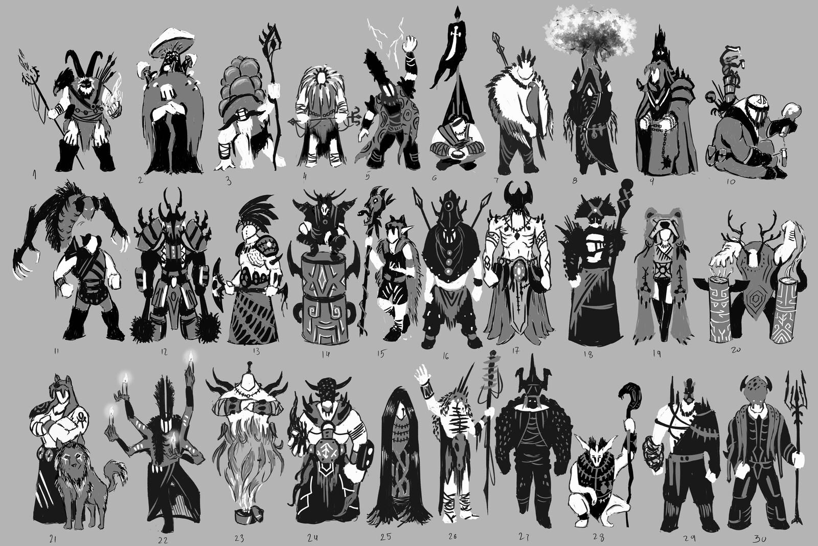 Character Thumbnails - Shaman / Oracle