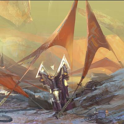 Igor burlakov dartgarry precursors artifact in dragoniers camp sketch