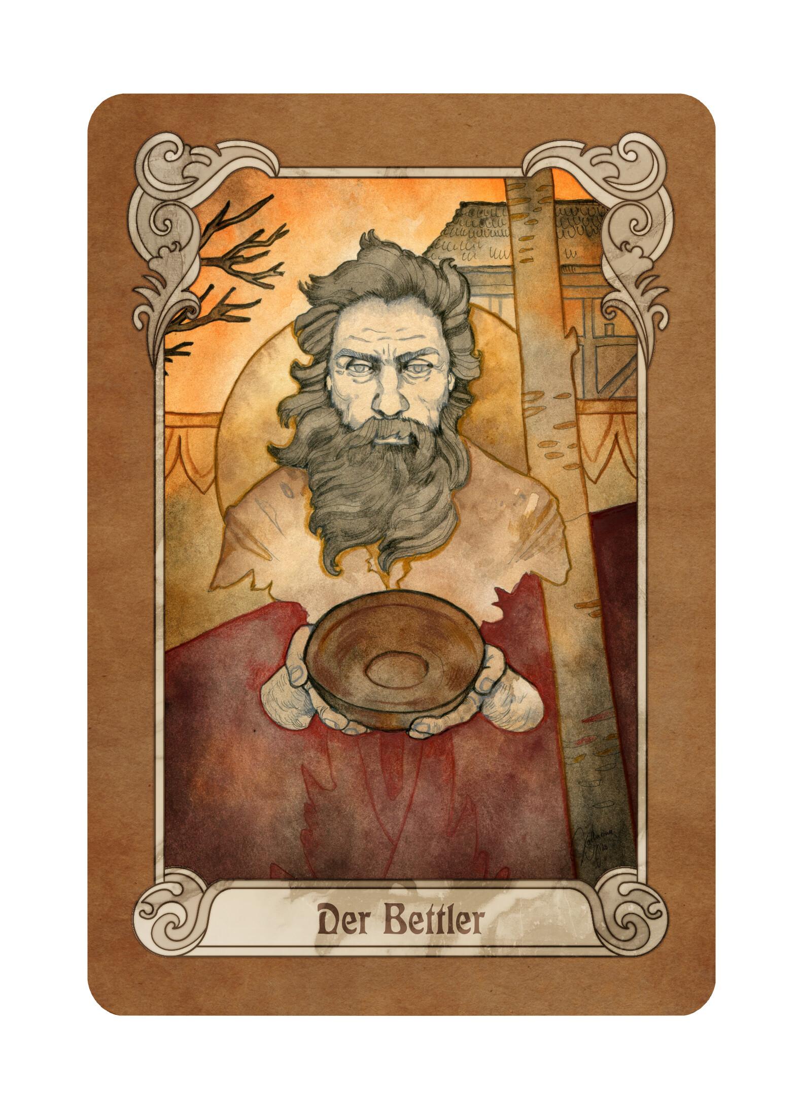 """The card """"The Beggar"""" (""""Der Bettler"""" in German)"""