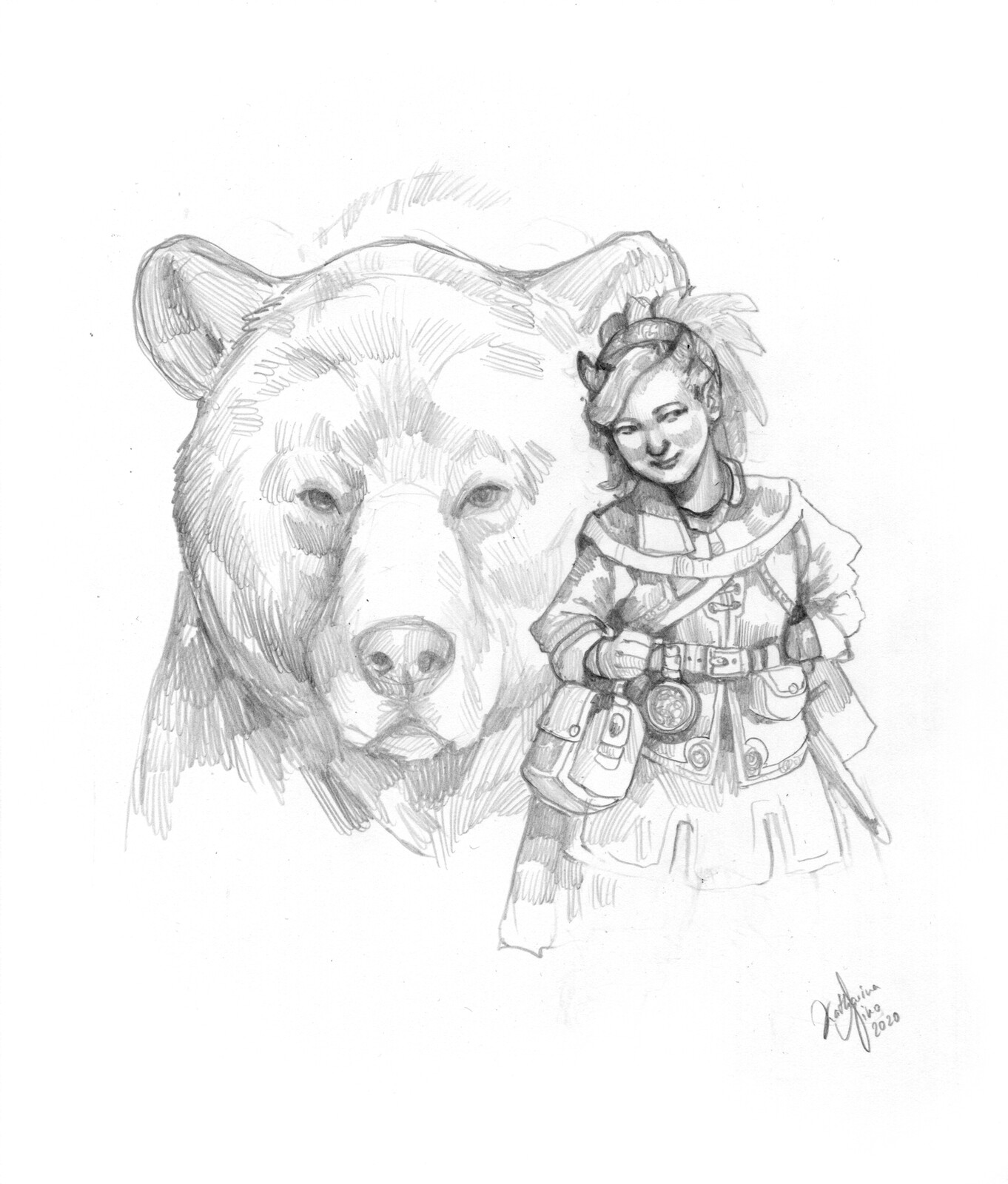 RPG character: Gnome with a Bear