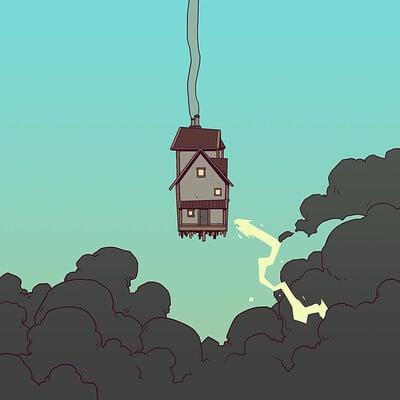 A shipwright house lightning