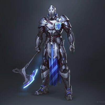 Neon Griffin Knight