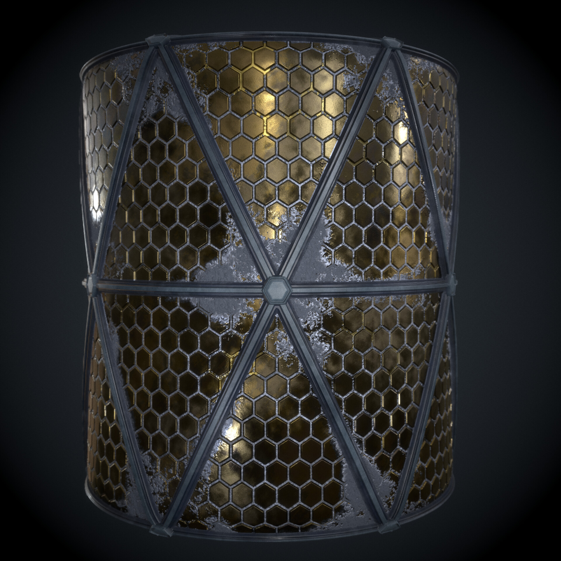 Material Cylindrical render
