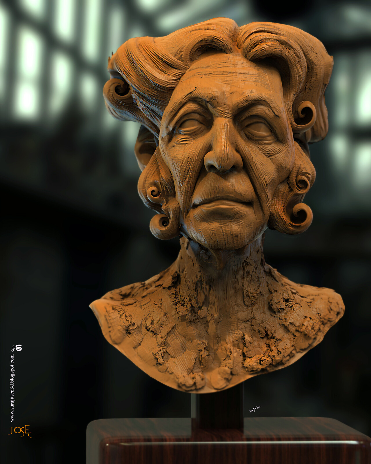 Quick blocking Digital Sculpture Study work Jose Background music- #hanszimmermusic