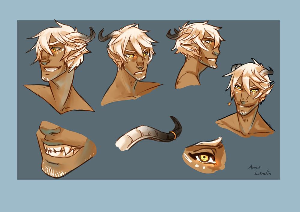facial features - sketches