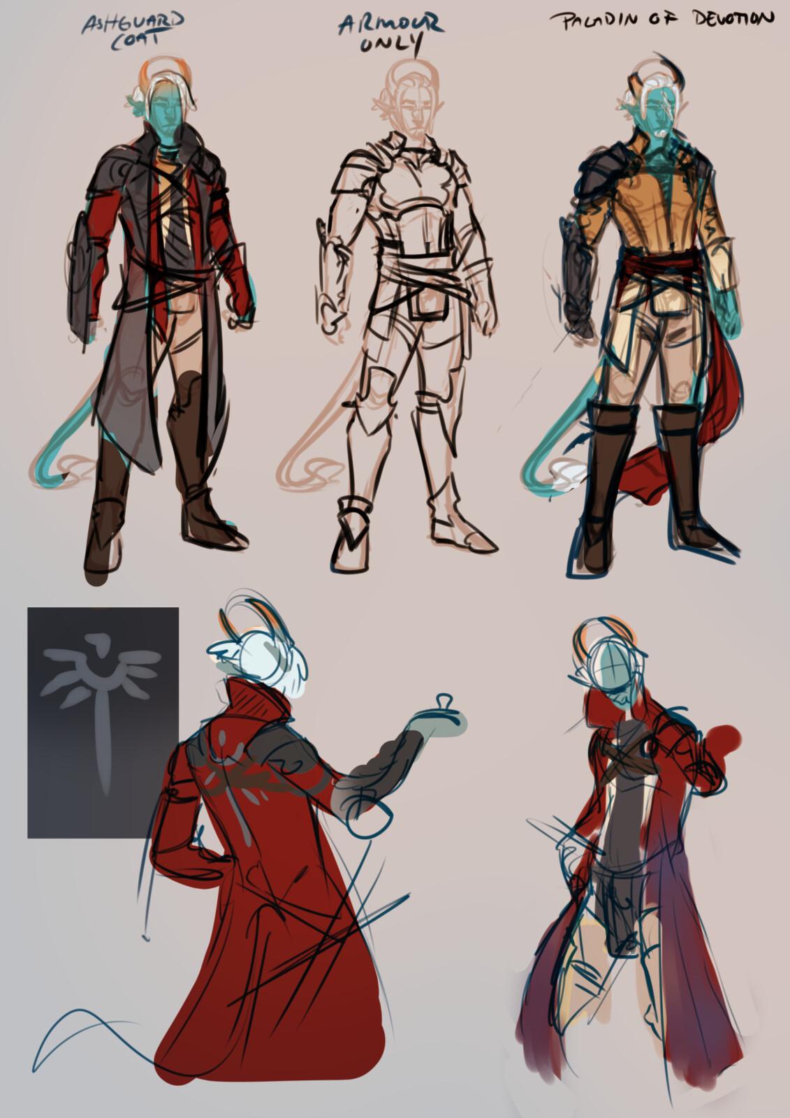 costume design roughs, Zhiram