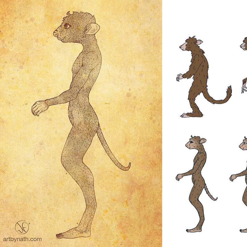 Creature Design for 'Parvmanernes Hemmelighed'