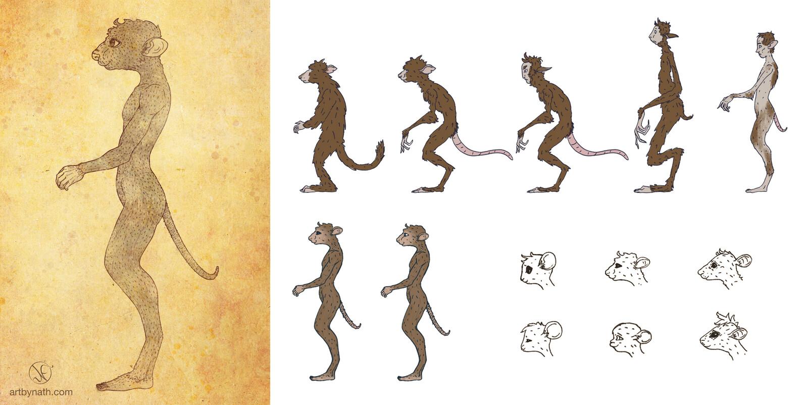 Parvmaner Creature Design
