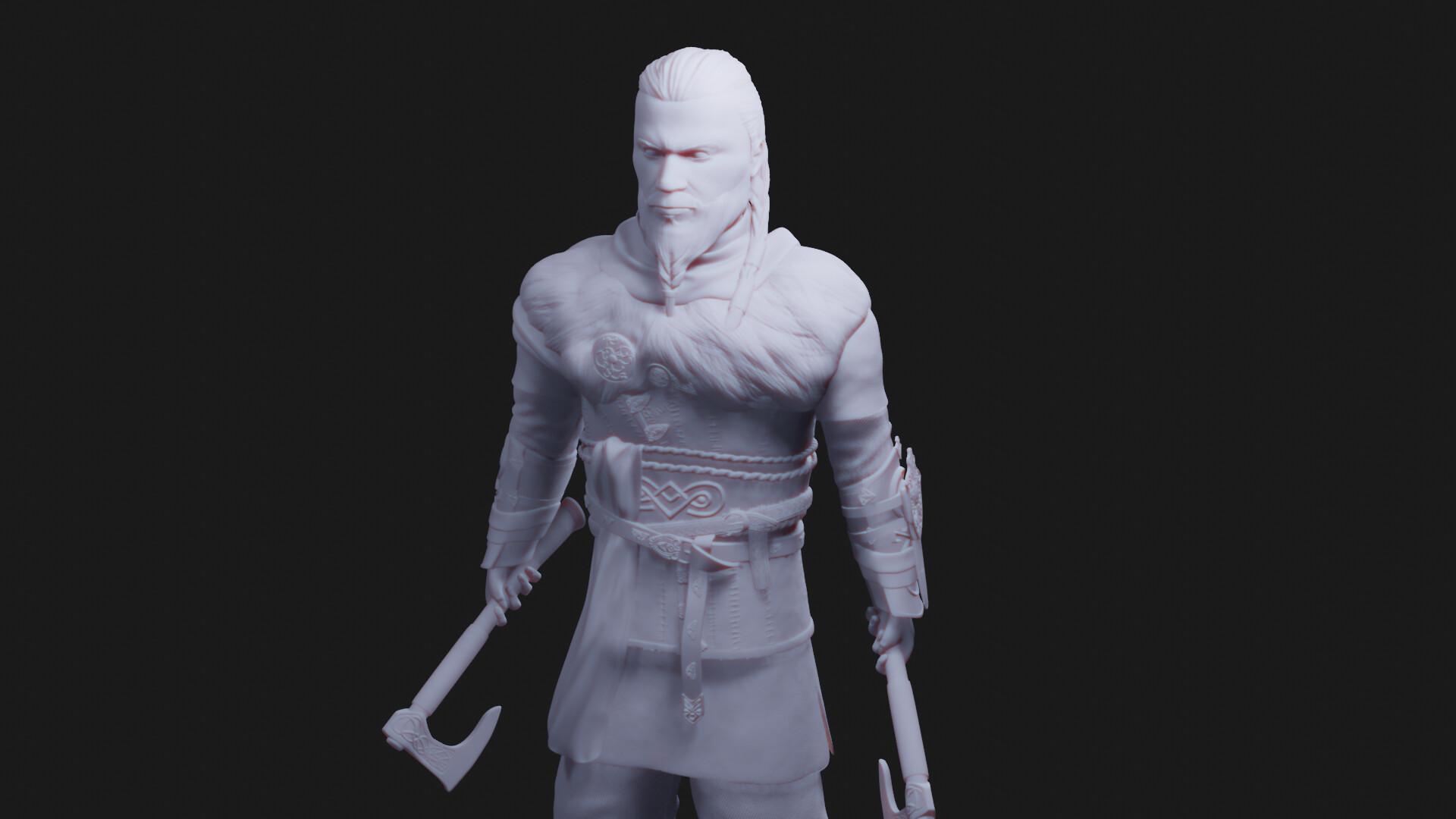 Artstation Assassin S Creed Valhalla Eivor 3d Print Sculpt Shojn Lotr