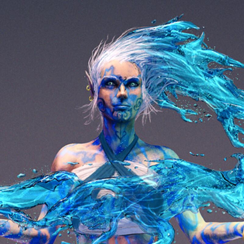 Leiola, the Water Genasi Fighter