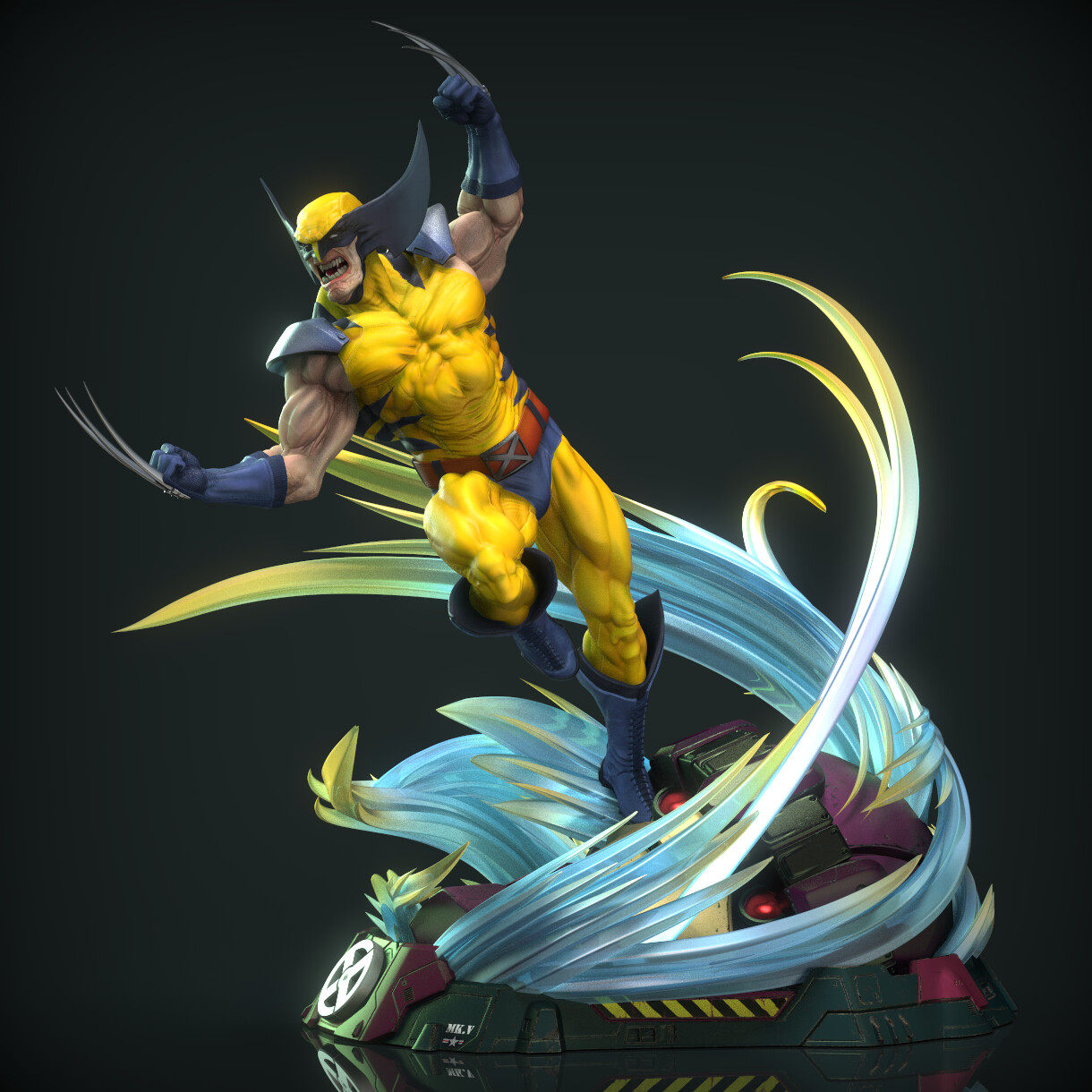 Classic Wolverine statue