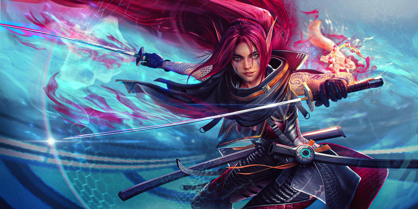 ALLIRA - Shadowrun Splash Art