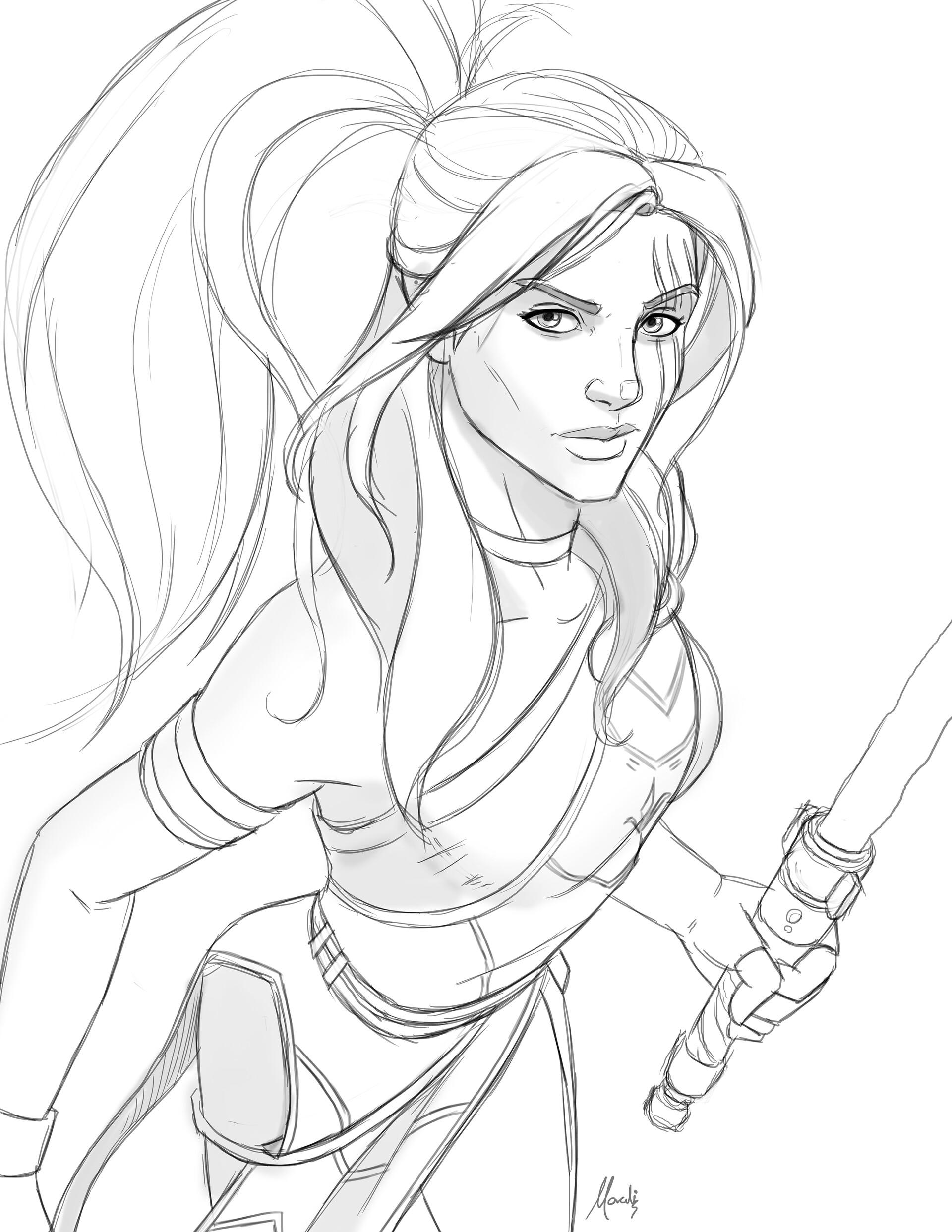 Step 2. I then sketched the details