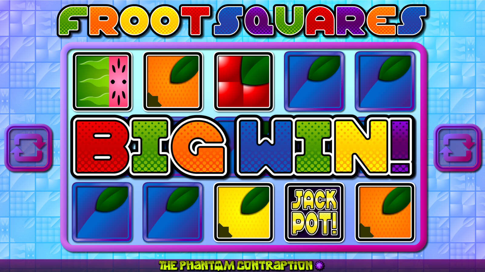 Froot Squares Landscape Screenshot: Big Win