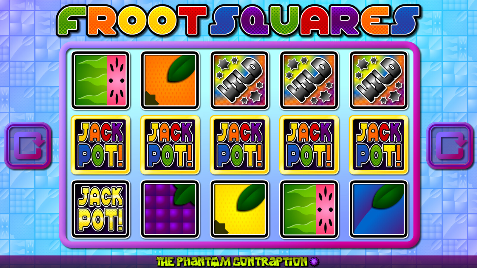Froot Squares Landscape Screenshot: Jackpot Line