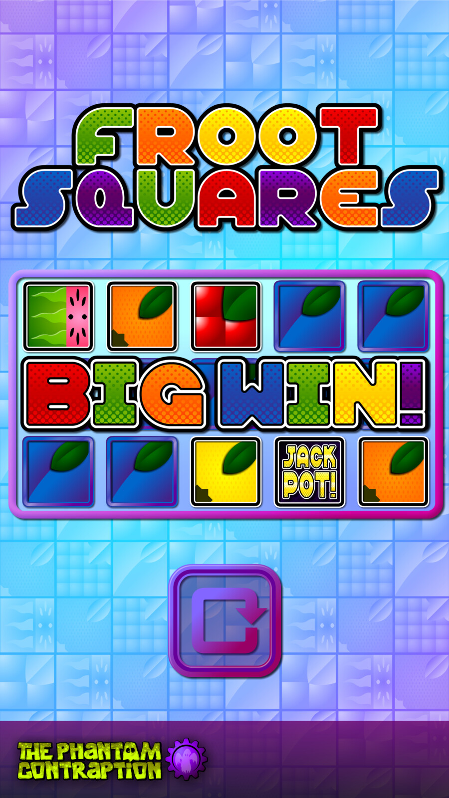 Froot Squares Portrait Screenshot: Big Win
