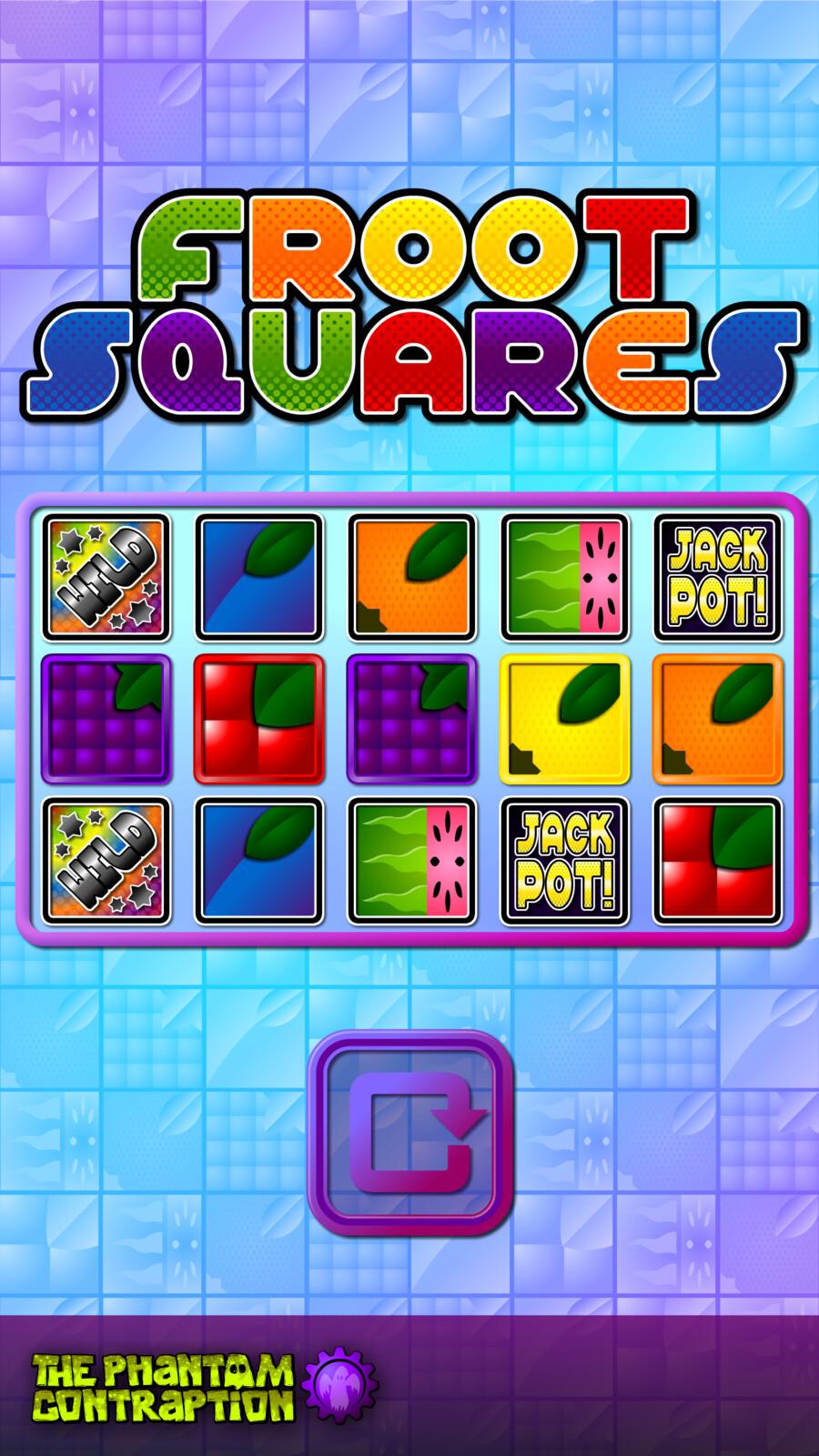 Froot Squares Portrait Screenshot: No Win