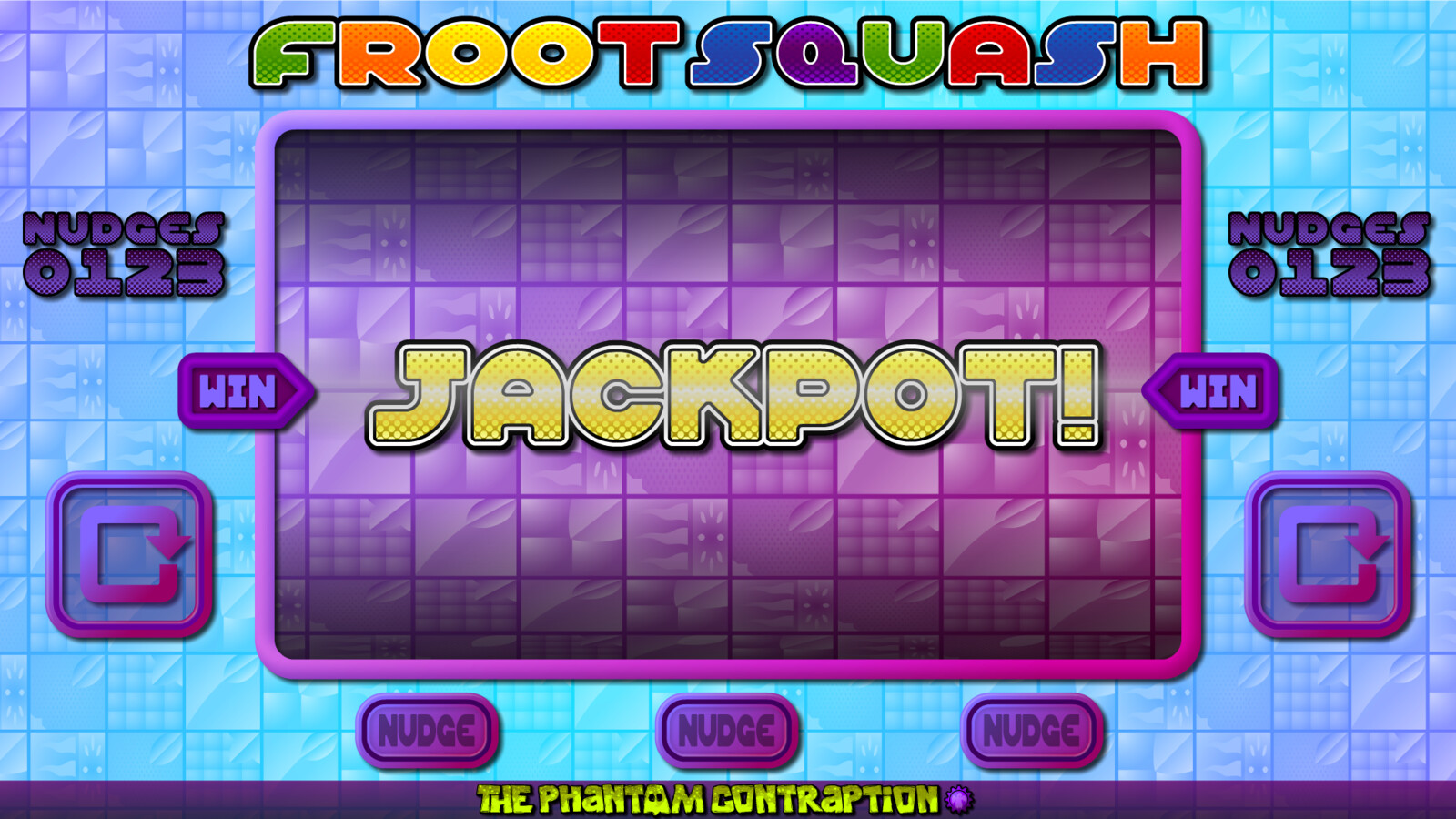 Froot Squash Landscape Screenshot: Jackpot Screen