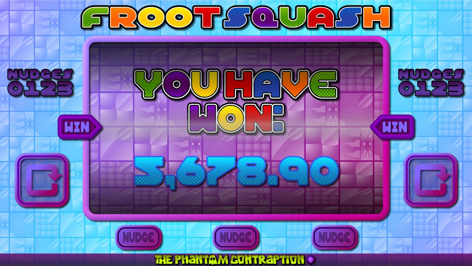 Froot Squash Landscape Screenshot: You Have Won