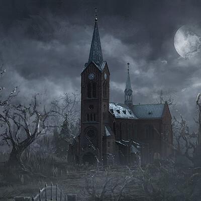 Aaron wilkerson moonlit church 1k