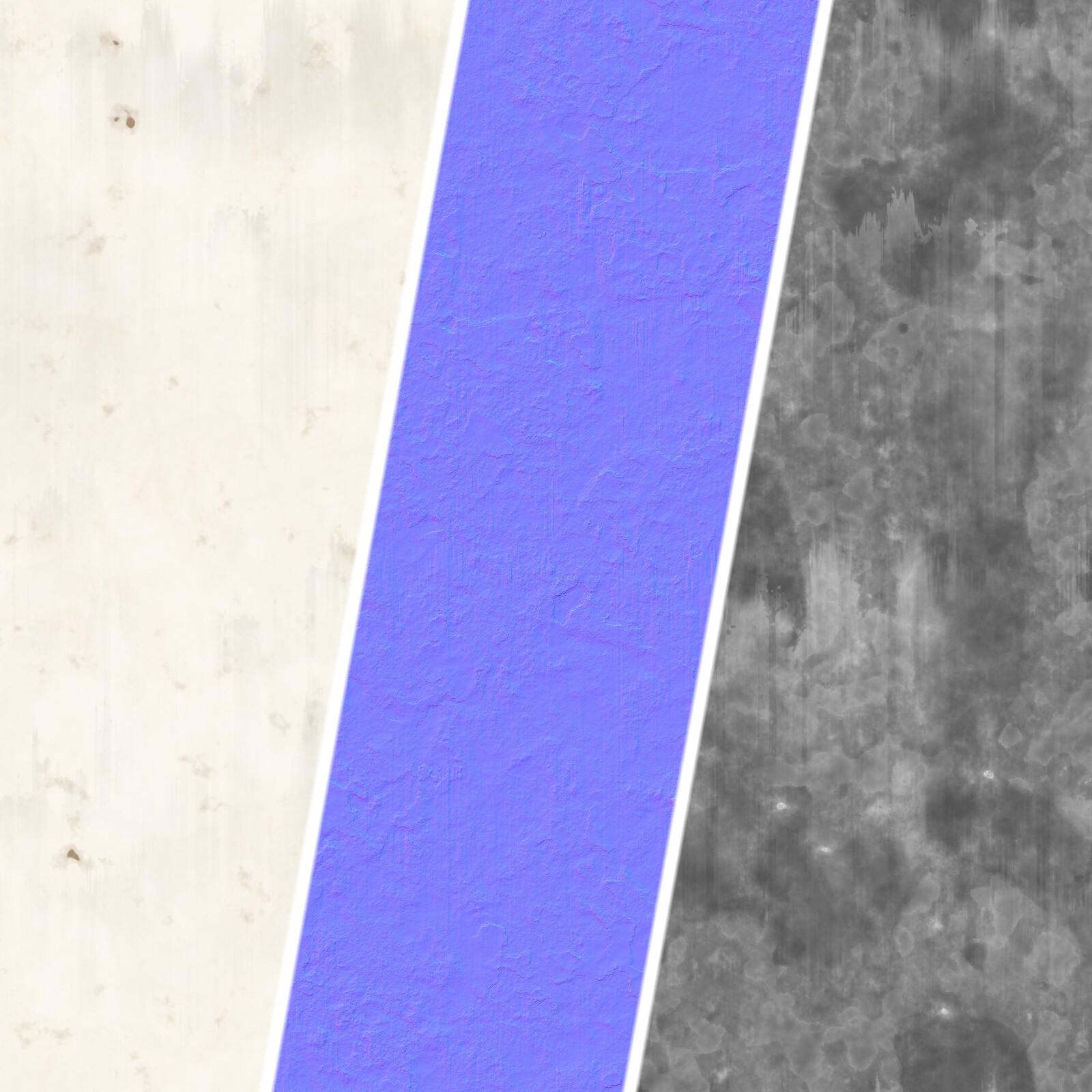 Tintable Plaster texture maps breakdown